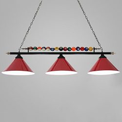 Lina Billiard Chandelier Led Personality Wrought Iron Snooker Cafe Restaurant Billiard Room Lamp ...