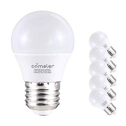 Comzler 6W A15 LED Bulb Daylight 60 Watt Equivalent, E26 Medium Screw Base Small Light Bulb Cool ...