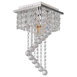 Hellofishly Modern Crystal Chandelier,Pendeant Ceiling Lamp LED Modern Light Home Decor E12,Ligh ...