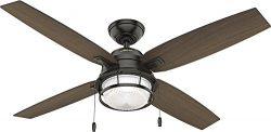 Hunter Fan Company 59214 Hunter 52″ Ocala Noble Bronze Ceiling Fan with Light, Black