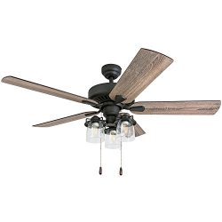 Prominence Home 50585-01 Briarcrest Farmhouse Ceiling Fan, 52″, Barnwood/Tumbleweed, Aged  ...