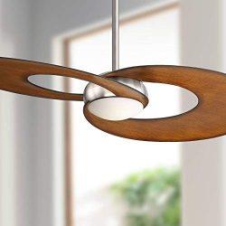52″ Innovation Brushed Nickel Koa LED Ceiling Fan – Possini Euro Design