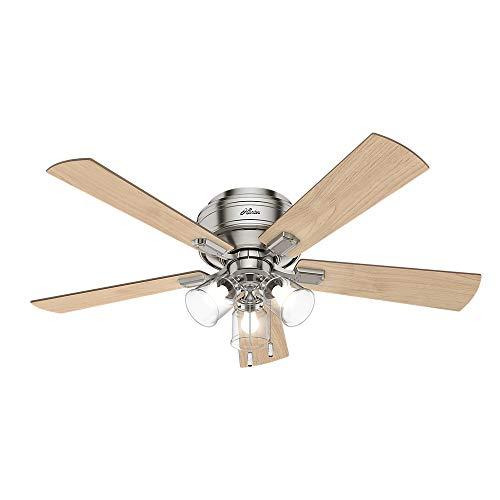 Hunter Fan Company 54209 Hunter 52″ Crestfield Brushed Nickel LED Light Ceiling Fan,