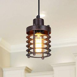 LNC Pendant Lighting for Kitchen Island Farmhouse Barn Warehouse Mini Cage Ceiling Lamp with Bro ...