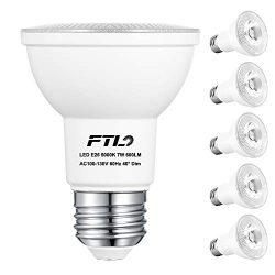 PAR20 LED Flood Bulbs, Dimmable 7W Spot Light Bulbs(50W Halogen Bulb Equivalent), 5000K Daylight ...