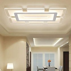 LITFAD Rectangular LED Flush Light Minimalist Acrylic Ultrathin Ceiling Lamp, Modern Pandent Lig ...