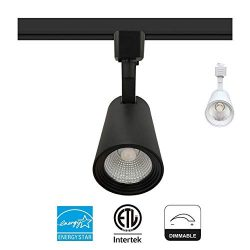 LED Track Light Head 9W (60W Equiv.) 600 Lumens 40° Beam Adjustable CRI90+ Dimmable (ENERGY STAR ...