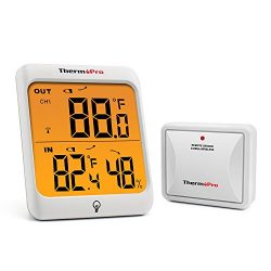 ThermoPro  TP63 Digital Wireless Hygrometer Indoor Outdoor Thermometer Wireless Temperature  and ...