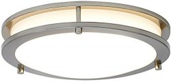 Alexa Ceiling Light Modern Round Alexa Certified Smart LED Fixture Dimmable Color Tunable 2700K  ...