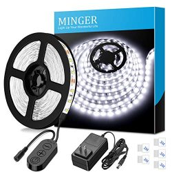 Dimmable LED Strip Lights, MINGER White Strip Light LED Mirror Lights Kit for Vanity Makeup Dres ...