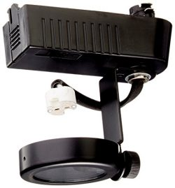 PLC Lighting TR10 BK Gimbal Collection 12V Track Lighting 1 Light Fixture, Black
