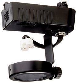 PLC Lighting TR10 BK Gimbal Collection 12V Track Lighting 1 Light Fixture, Black
