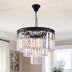 Zgear 7 Lights Luxury Modern/Contemporary Crystal Chandelier Ceiling Light Pendant Light for Din ...