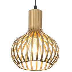 Popilion Champagne Metal Ceiling Pendant Light,Industrial Adjustable Pendant Lights with Uniform ...