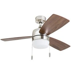Honeywell 50616-01 Barcadero Ceiling Fan 44″ Compact Contemporary, Integrated LED Light, C ...