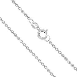 Honolulu Jewelry Company Sterling Silver 1mm Cable Chain (19 Inches)