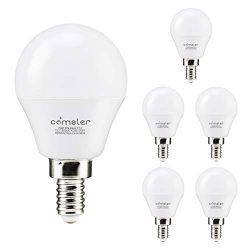 Comzler LED Ceiling Fan Bulb 60W Equivalent, Daylight 5000K, Candelabra Base G45 Globe Light Bul ...