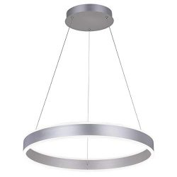 ROYAL PEARL Modern Foyer Pendant Light Dimmable 6460lm 76W LED Chandelier Adjustable Hanging Pen ...