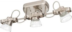 Lithonia Lighting LTFSGL3 27K 90CRI BN M4 3-Light LED Linear Seeded Glass Fixed Track Kit, 2700K ...