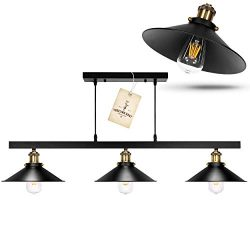 Black Rustic Chandelier – Hanging Light Fixture, Pool Table Light, Pendant Farmhouse Light ...