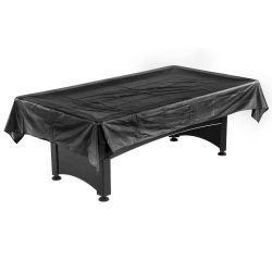 Hathaway Pool Table Billiard Dust Cover, Black, 7-8-Feet