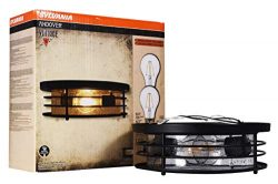 SYLVANIA General Lighting Sylvania 60078 Andover Antique Drum Light, LED, Flush Mount, Dimmable, ...