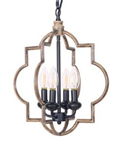 Homenovo Lighting Mersey Farmhouse 4-Light Chandelier