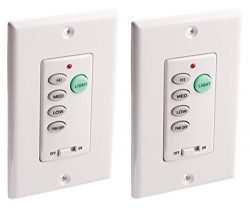 Ciata Lighting Wireless Ceiling Fan and Light Wall Control – 2 Pack