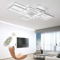 LED Ceiling Light Dimmable Living Room Kitchen Island Table Light Fixture With Remote Control, M ...