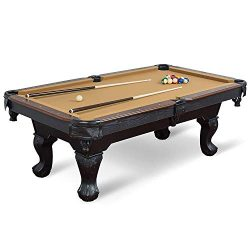 EastPoint Sports Masterton Billiard Pool Table – Tan Felt , 87-inch – Features Tradi ...