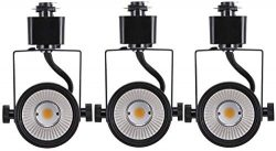 Cloudy Bay 8W dimmable LED Track Light Head,CRI 90+ Day Light 5000K,Adjustable Tilt Angle Track  ...