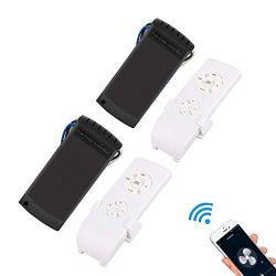 QIACHIP Universal WiFi Ceiling Fan Remote Control Kit Timing Wireless Control with Amazon Alexa  ...