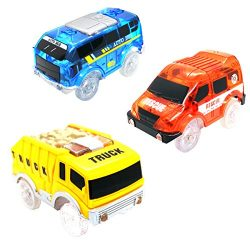 Track Cars Compatible with Magic Tracks and Neo Tracks Replacement Light Up Racing Track Accesso ...