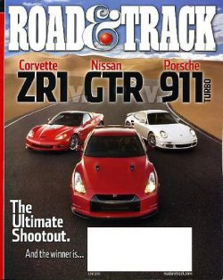 Road & Track June 2010 Corvette ZR1 & Nissan GT-R & Porsche 911 Turbo on Cover (The  ...
