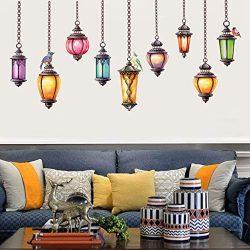 ☀ Dergo ☀ New DIY Removable Pendent Lamp Bedroom Living Room Wallpaper Wall Sticker