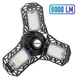 LED Garage Lights, 60W LED Garage Ceiling Lights 6000LM Garage Lighting, Deformable LED Shop Lig ...