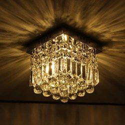 Beyonds Supreme Luxury Ceiling Light Flush Mounted Crystal Ceiling Lamp, 9.84″ X 9.8&#8243 ...