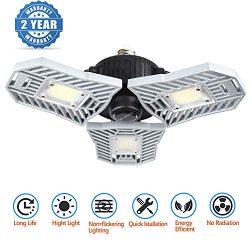 Led Garage Lighting, Deformable Garage Light 6000LM, 60W Shop Lights for Garage, Ultra-Bright Mi ...