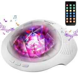 Aurora Night Light , Projector Nightlight Sound Machine with 7 Light Modes , Bluetooth Speaker,  ...