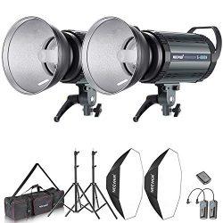 Neewer 800W Photo Studio Strobe Flash and Softbox Lighting Kit: (2)400W Monolight Flash(S-400N), ...