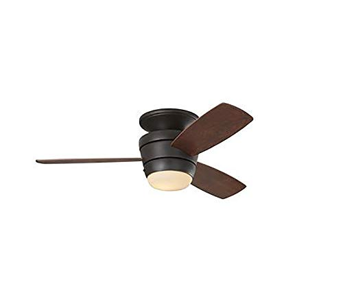 Harbor Breeze Mazon 44 Inch Bronze Flush Mount Indoor Ceiling Fan With Light Kit And Remote 3