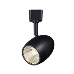Hampton Bay 2.56 in. 1-Light Black Dimmable LED Track Lighting Head