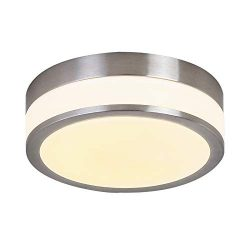 Glass LED Flush Mount Lighting Auffel Minimalist Close to Ceiling Light Fixture Dimmable 3000K W ...