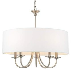 Kira Home Quinn 21″ Traditional 5-Light Chandelier/Adjustable Chain Link Hanging Light + W ...