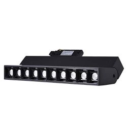 mirrea 20W Dimmable LED Array Track Lighting Heads Black Painted Compatible with Single Circuit  ...