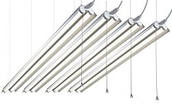 Hyperikon 4 Foot LED Lighting, 100 Watt (40W) Double Tube, Shop and Garage Lighting, 5000K, Link ...