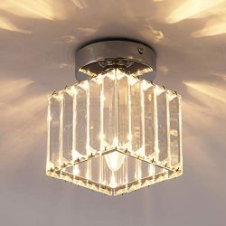 Jaycomey Ceiling Lamp,1-Light Crystal Pendant Lighting Fixtures,Close to Ceiling Light for Corri ...