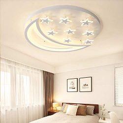 Creative LED Flush Mount Ceiling Light, CraftThink Acrylic Chandeliers Moon Star Shape Lighting  ...
