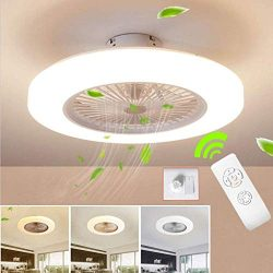SLZ Ceiling Fan with Lighting, LED Fan Ceiling Fan, 36 W, Ceiling Lighting, dimmable with Remote ...