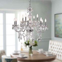 Saint Mossi Modern K9 Crystal Chandelier Lighting LED Ceiling Light Fixture Pendant Chandelier f ...